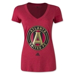Atlanta United FC Women's Logo V-Neck T-Shirt