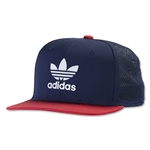 adidas Originals Beacon Snapback STR Cap (Navy)
