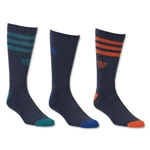 adidas Originals Cushioned 3 Pack Crew Sock (Black)