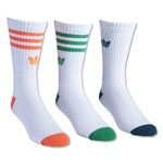 adidas Originals Cushioned 3 Pack Crew Sock (Wh/Or)