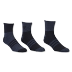 adidas Originals Cushioned 3 Pack Quarter Sock (Black)