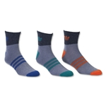adidas Originals Cushioned 3 Pack Quarter Sock (Gray)