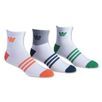 adidas Originals Cushioned 3 Pack Quarter Sock (Wh/Or)