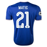 Chelsea 15/16 21 MATIC UCL Home Soccer Jersey