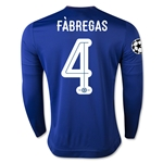 Chelsea 15/16  4 FABREGAS LS UCL Home Soccer Jersey