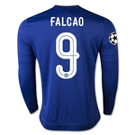 Chelsea 15/16  9 FALCAO LS UCL Home Soccer Jersey