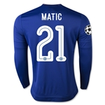 Chelsea 15/16 21 MATIC LS UCL Home Soccer Jersey
