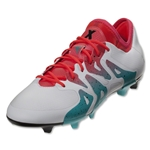 adidas Women's X 15.1 FG/AG (White/Shock Green)