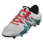 adidas Women's X 15.2 FG/AG (White/Shock Green)