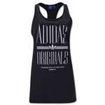 adidas Originals Women's Run Trefoil Tank (Black)