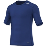 adidas TechFit Compression T-Shirt (Royal Blue)