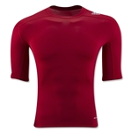 adidas TechFit Compression T-Shirt (Red)