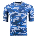 adidas TechFit Compression Camo T-Shirt (Blue)