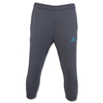 adidas 3/4 Tapered Lightweight Fleece Pant (Dk Gray)