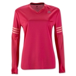 adidas Women's Response LS T-Shirt (Red)