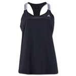 adidas Women's 3-Stripes Performer Tank (Black)
