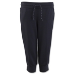 adidas Women's Essentials 3 Stripes 3/4 Pant (Black)
