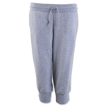 adidas Women's Essentials 3 Stripes 3/4 Pant (Gray)