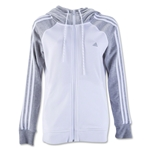 adidas Women's Essentials 3 Stripes Hoody (White)