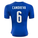 Italy 2016 CANDREVA Authentic Home Soccer Jersey