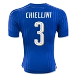 Italy 2016 CHIELLINI Authentic Home Soccer Jersey