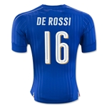 Italy 2016 DE ROSSI Authentic Home Soccer Jersey