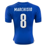Italy 2016 MARCHISIO Authentic Home Soccer Jersey