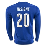 Italy 2016 INSIGNE LS Home Soccer Jersey