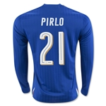 Italy 2016 PIRLO LS Home Soccer Jersey