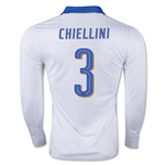 Italy 15/16 CHIELLINI LS Away Soccer Jersey