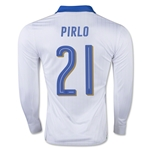 Italy 15/16 PIRLO LS Away Soccer Jersey