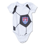 USA Soccer Ball Newborn Creeper Onesie