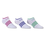 adidas Women's Superlite Six Pack No Show Sock (Whites)