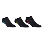 adidas Women's ClimaCool Superlite 3 Pack No Show Sock (Black)