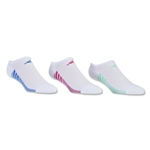 adidas Women's ClimaCool Superlite 3 Pack No Show Sock (White)
