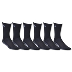 adidas Youth Graphic 6 Pack Crew Sock (Black)