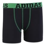 adidas Youth Sports Performance Climalite Boxer Brief 2 Pack (Bk/Fg)
