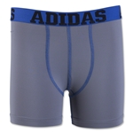 adidas Youth Sports Performance Climalite Boxer Brief 2 Pack (Royal/Gray)