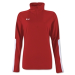 Under Armour Qualifier 1/4 Zip Women's Training Top (Red)