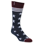 adidas Neo Sublimated Knit in Stars and Stripes Single Crew Sock (Navy)