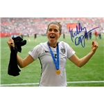 Kelley O'Hara Signed WWC USA Trophy Celebration 16x20 Photo