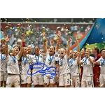 Christie Rampone Signed WWC USA Trophy Celebration 8x10 Photo