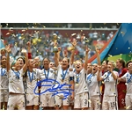 Christie Rampone Signed WWC USA Trophy Celebration 16x20 Photo