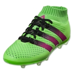 adidas Ace 16.1 Primeknit FG/AG Junior (Solar Green/Shock Pink/Black)