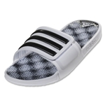adidas adissage 2.0 Sandal (White/Black/White Graphic)