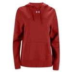 Under Armour Women's Team Rival Fleece Hoody (Red)