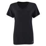 Under Armour Women's Stadium V-Neck T-Shirt (Black)