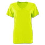 Under Armour Women's Stadium V-Neck T-Shirt (Neon Yellow)