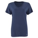 Under Armour Women's Stadium V-Neck T-Shirt (Navy)