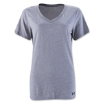Under Armour Women's Stadium V-Neck T-Shirt (Gray)